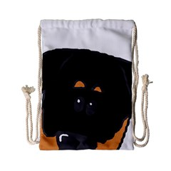 Peeping Rottweiler Drawstring Bag (Small)
