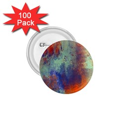Abstract in Green, Orange, and Blue 1.75  Buttons (100 pack)