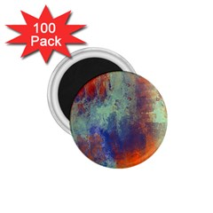 Abstract in Green, Orange, and Blue 1.75  Magnets (100 pack)