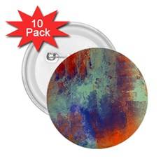 Abstract In Green, Orange, And Blue 2 25  Buttons (10 Pack)