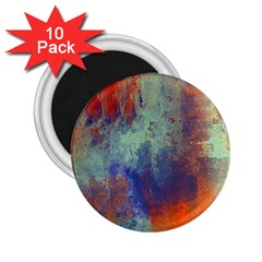 Abstract in Green, Orange, and Blue 2.25  Magnets (10 pack)