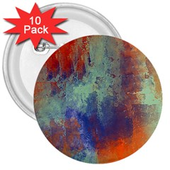 Abstract In Green, Orange, And Blue 3  Buttons (10 Pack)