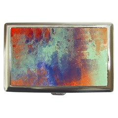 Abstract in Green, Orange, and Blue Cigarette Money Cases