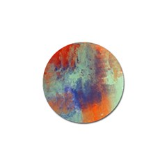 Abstract In Green, Orange, And Blue Golf Ball Marker