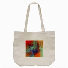 Abstract In Green, Orange, And Blue Tote Bag (cream)