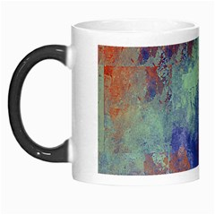 Abstract In Green, Orange, And Blue Morph Mugs