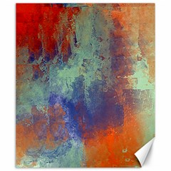Abstract In Green, Orange, And Blue Canvas 20  X 24