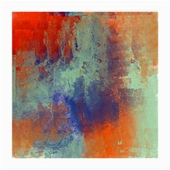 Abstract in Green, Orange, and Blue Medium Glasses Cloth (2-Side)