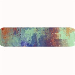 Abstract in Green, Orange, and Blue Large Bar Mats