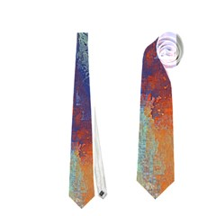 Abstract In Green, Orange, And Blue Neckties (one Side)