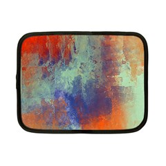 Abstract In Green, Orange, And Blue Netbook Case (small)