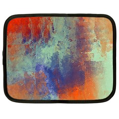 Abstract in Green, Orange, and Blue Netbook Case (Large)