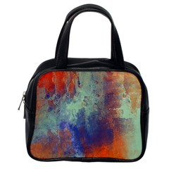 Abstract In Green, Orange, And Blue Classic Handbags (one Side)