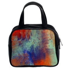 Abstract in Green, Orange, and Blue Classic Handbags (2 Sides)