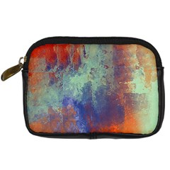 Abstract In Green, Orange, And Blue Digital Camera Cases