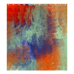 Abstract in Green, Orange, and Blue Shower Curtain 66  x 72  (Large)