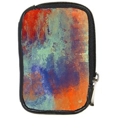Abstract In Green, Orange, And Blue Compact Camera Cases