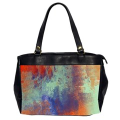 Abstract in Green, Orange, and Blue Office Handbags (2 Sides)
