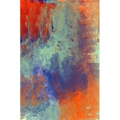 Abstract In Green, Orange, And Blue 5 5  X 8 5  Notebooks