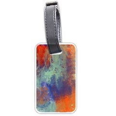Abstract In Green, Orange, And Blue Luggage Tags (two Sides)