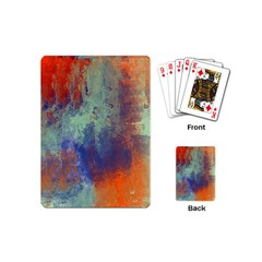 Abstract In Green, Orange, And Blue Playing Cards (mini)