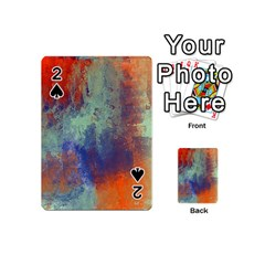 Abstract In Green, Orange, And Blue Playing Cards 54 (mini)