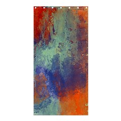 Abstract In Green, Orange, And Blue Shower Curtain 36  X 72  (stall)