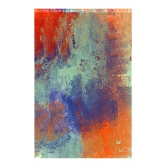 Abstract In Green, Orange, And Blue Shower Curtain 48  X 72  (small)