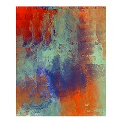 Abstract In Green, Orange, And Blue Shower Curtain 60  X 72  (medium)
