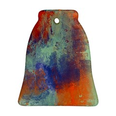 Abstract in Green, Orange, and Blue Ornament (Bell)