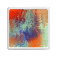 Abstract In Green, Orange, And Blue Memory Card Reader (square)