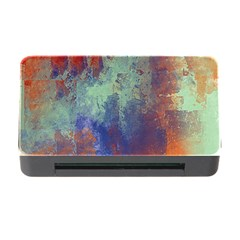Abstract in Green, Orange, and Blue Memory Card Reader with CF