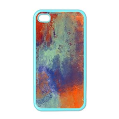 Abstract In Green, Orange, And Blue Apple Iphone 4 Case (color)