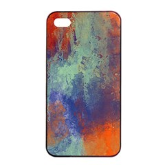 Abstract in Green, Orange, and Blue Apple iPhone 4/4s Seamless Case (Black)