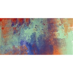 Abstract in Green, Orange, and Blue YOU ARE INVITED 3D Greeting Card (8x4)
