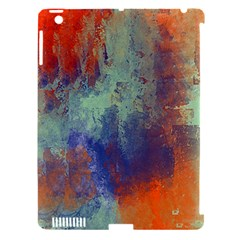 Abstract In Green, Orange, And Blue Apple Ipad 3/4 Hardshell Case (compatible With Smart Cover)
