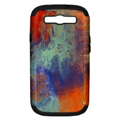 Abstract In Green, Orange, And Blue Samsung Galaxy S Iii Hardshell Case (pc+silicone)