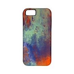 Abstract in Green, Orange, and Blue Apple iPhone 5 Classic Hardshell Case (PC+Silicone)