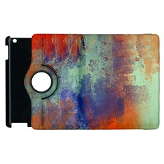 Abstract in Green, Orange, and Blue Apple iPad 3/4 Flip 360 Case