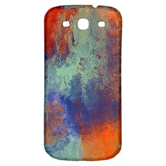 Abstract in Green, Orange, and Blue Samsung Galaxy S3 S III Classic Hardshell Back Case
