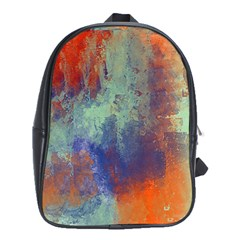 Abstract In Green, Orange, And Blue School Bags (xl)