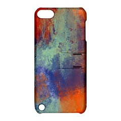 Abstract in Green, Orange, and Blue Apple iPod Touch 5 Hardshell Case with Stand