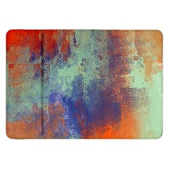 Abstract In Green, Orange, And Blue Samsung Galaxy Tab 8 9  P7300 Flip Case