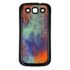 Abstract In Green, Orange, And Blue Samsung Galaxy S3 Back Case (black)