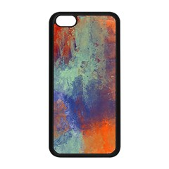 Abstract In Green, Orange, And Blue Apple Iphone 5c Seamless Case (black)