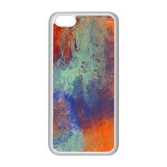 Abstract In Green, Orange, And Blue Apple Iphone 5c Seamless Case (white)