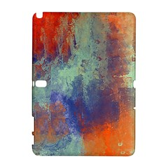 Abstract in Green, Orange, and Blue Samsung Galaxy Note 10.1 (P600) Hardshell Case