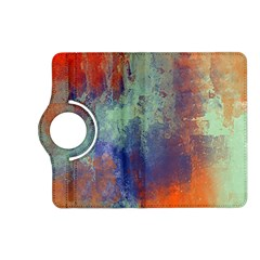 Abstract in Green, Orange, and Blue Kindle Fire HD (2013) Flip 360 Case