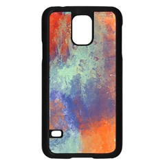 Abstract In Green, Orange, And Blue Samsung Galaxy S5 Case (black)