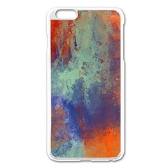 Abstract In Green, Orange, And Blue Apple Iphone 6 Plus Enamel White Case